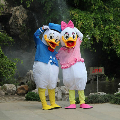 Donald and Daisy Duck Adult Mascot Costume Party Clothing Fancy Dress Set of - Donald And Daisy Duck Costumes