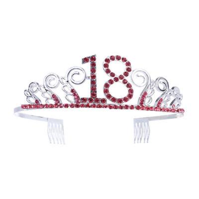 Birthday Rhinestone Crystal Crown Tiara 60/50/40/30/20/18th Birthday Headband