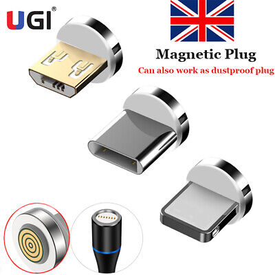 Magnetic Cable Plug Round Fast Charging Adapter Magnet Charger Plugs for iPhone