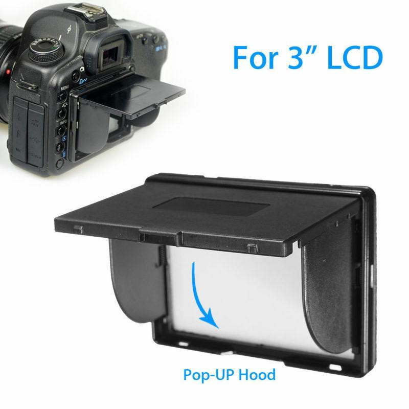 3 Inch LCD Shade SLR Camera Screen Universal Detachable Pop-UP Hood Protector