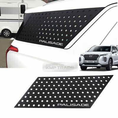 C Pillar Window Glass Sports Plate Molding Black For HYUNDAI 2019-2020 Palisade