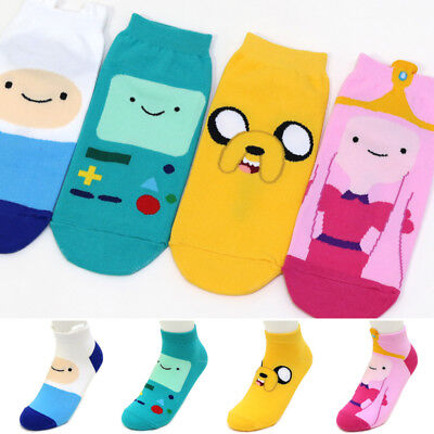 Adventure Time with Finn and Jake Animation Socks Women 4 Pairs Cartoon Socks