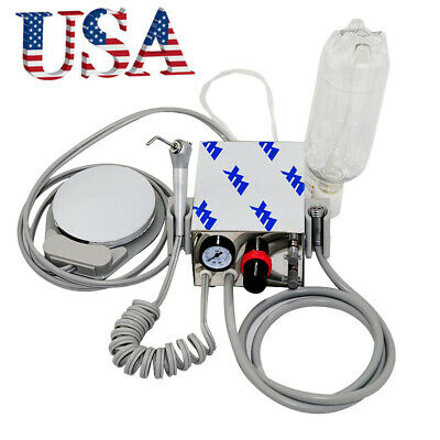 Portable Dental Air Turbine Unit Compressor Low High Handpiece 4hole With Bottle