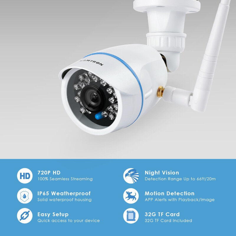 KAMTRON Wireless Security Camera,Outdoor WiFi Surveillance Camer