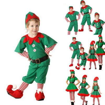Weihnachten Kostüm Elfenkostüm Erwachsene Kinder Familien Outfit Kostüm Cosplay (Weihnachten Elf Kostüm Kinder)