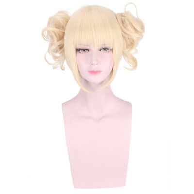 My Boku no Hero Academia Himiko Toga Light Blonde Ponytail Cosplay Wig + Cap](Blonde Ponytail Wig)