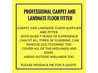 Professional Carpet/laminate floor fitter