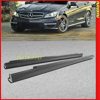 Running Boards Side Skirts 2008-2014 C Class C63 AMG Style Rocker Molding Trim for sale  Rowland Heights