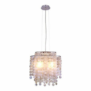 Hampton Bay Razzari ceiling light with mother pearl shells