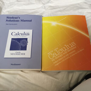 MATH 1505 Calculus for biology and medicine w/ solutions manual