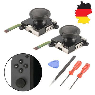 Schwarz Rocker Switch (6 in1 Joystick Thumbstick Rocker Ersatzteile Werkzeuge für Switch Joy Con AC1494)