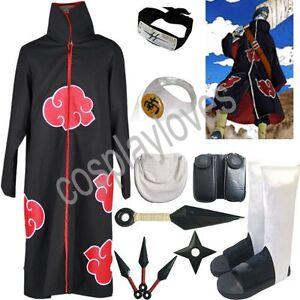 Naruto Akatsuki cloak Hoshigaki Kisame Cosplay Costume set
