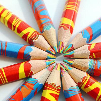 1pc Rainbow Pencil Pen Student School Stationery Supplies Kids Painting Pencils