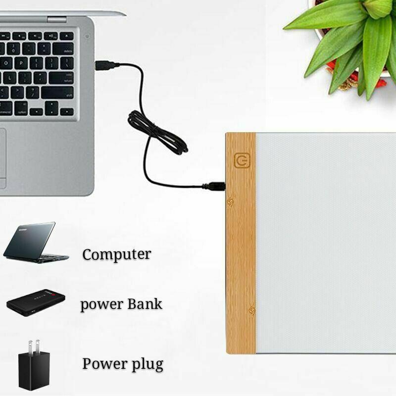 A4 LED Ultra Slim Art Craft Drawing Copy Tracing Light Box Pad Board Pad Kids