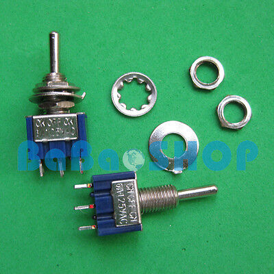 2pcs 3-pin Miniature Toggle Switch On-off-on 6a 125vac Spdt
