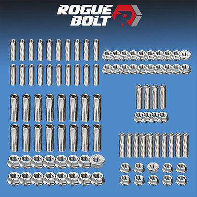 - FORD FE ENGINE STUD KIT BOLTS STAINLESS STEEL 352 360 390 406 427 428 ENGINES
