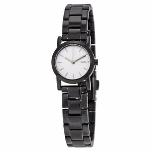 BRAND NEW DKNY White Dial Black PVD Ladies Watch FOR SALE