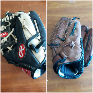 Excellent condition Youth baseball gloves