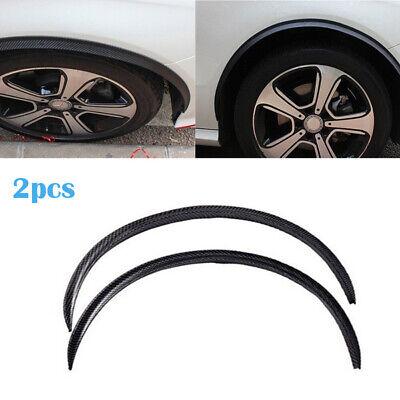 2pcs Carbon Fiber Wheel Eyebrow Strip Arch Protector Fender Trim Lips For Honda