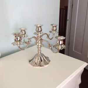 Silver plated candlelabra West Island Greater Montréal image 1