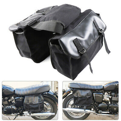Motorcycle Canvas Saddle Bags Equine Back Pack Panniers Bags for Harley Scooter