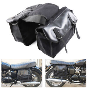 b25cd025624c Motorcycle Canvas Saddle Bags Equine Back Pack Panniers Bags for Harley  Scooter