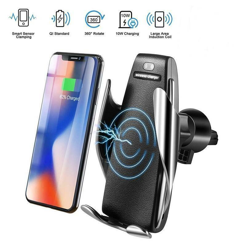 Automatic Clamping Wireless Car Charger Fast Charging Mount For iPhone Samsung Cell Phone Accessories