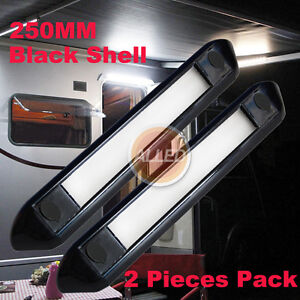 2X12V-250MM-Waterproof-LED-Awning-Light-Caravan-RV-Camping-Strip-Lamp-Cool-White
