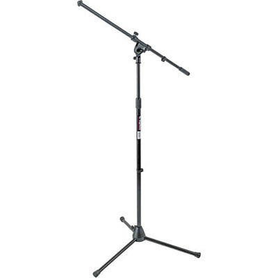On-Stage Stands MS7701B Tripod Euro Boom Microphone Mic Stand - Super