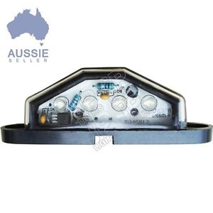 LED NUMBER PLATE LIGHT TRUCK UTE TRAILER CARAVAN 4 HIGH QUALITY LEDS!! 10-30V