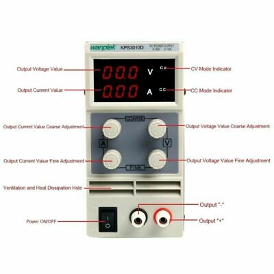 Dc Power Supply Adjustable Dual Digital Variable Precision Lab Grade