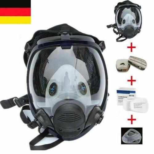 Staubdicht Maske Atemschutzmaske Vollmaske Silikon Gasmaske Atemmaske 15 IN 1 DE