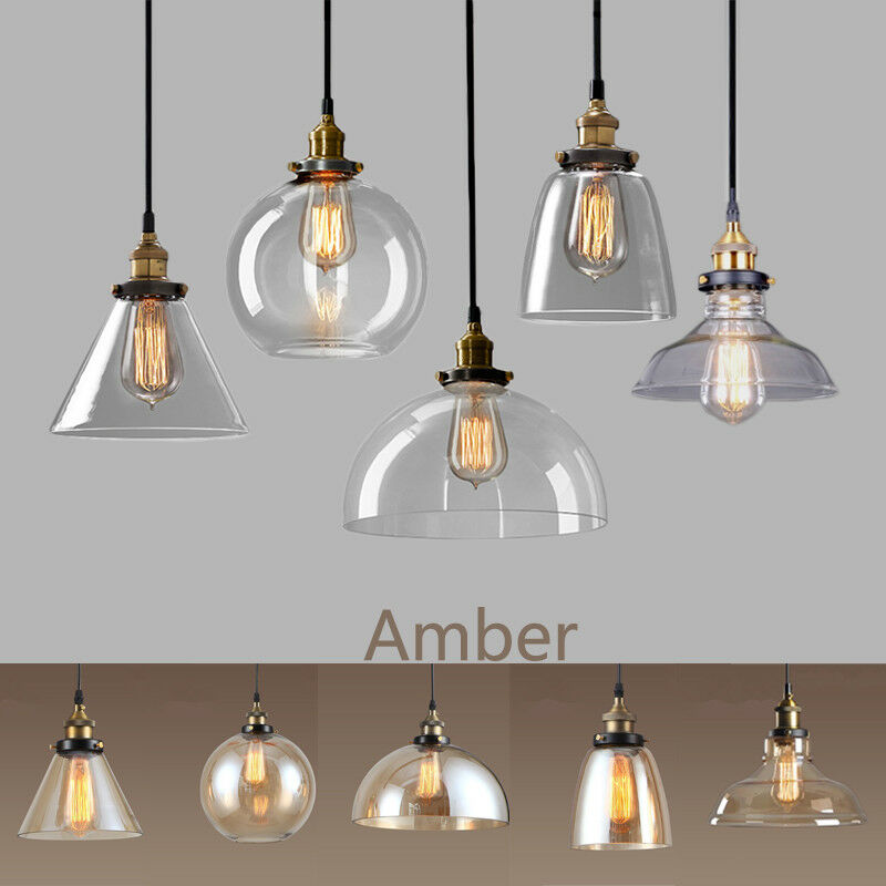 Details about Glass Pendant Light Home Lamp Kitchen Ceiling Lights Bedroom  Pendant Lighting