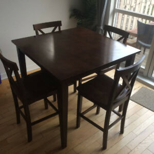 Pub Height Dining Table with four chairs - $100 (Leslieville)