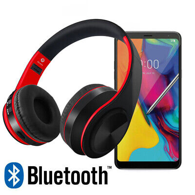Bluetooth 5.0 Over Ear Wireless Headphones with Mic Deep Bass for Travel Work TV
