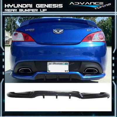 2012 Genesis Coupe - Fit For 10-12 Hyundai Genesis Coupe Sport Rear Bumper Lip Spoiler PU