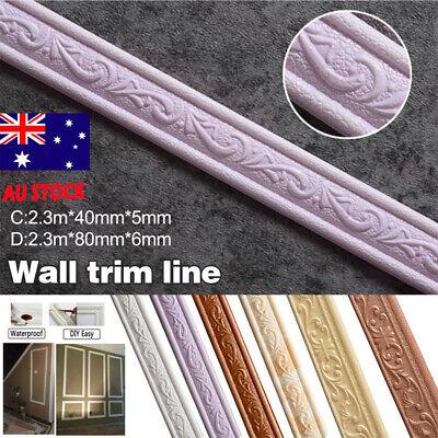 Home Decoration - DIY Self Adhesive Wall Trim Line Skirting Border Home Decor Sticker Strip AU