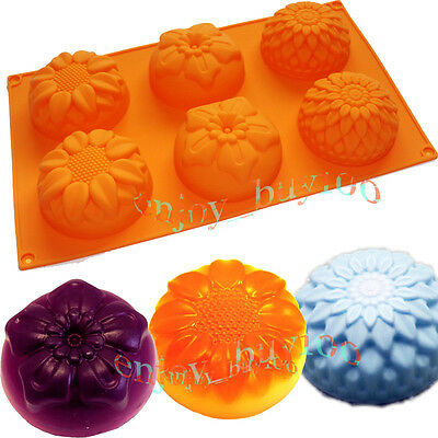 Sunflower Chrysanthemum Soap Chocolate Muffin Cupcake Mold Silicone for Homemade on Rummage