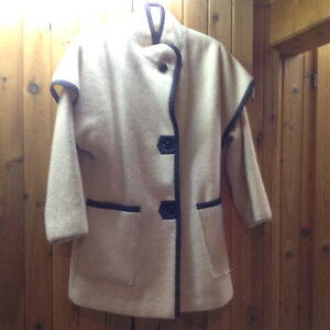 AUTHENTIC HUDSON'S BAY WOOL BLANKET COAT WITH REVERSIBLE SHELL