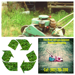 Free Removal of Derelict, Broken or Unwanted Lawn Equipment.