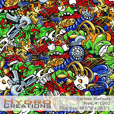 Hydrographic Film For Hydro Dipping Water Transfer Film Cartoon Madness