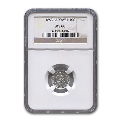 Click now to see the BUY IT NOW Price! 1853 LIBERTY SEATED HALF DIME W/ARROWS MS 66 NGC