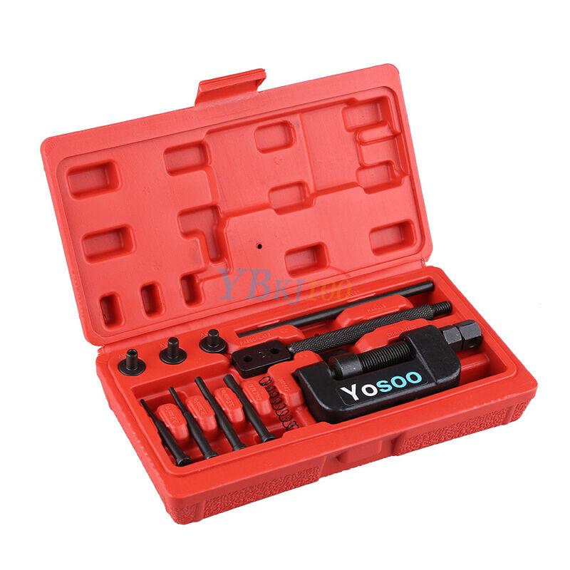 13x Chain Cutter Rivet Tool Set Riveting Breaker ATV//Bike//Motorcycle//Cam Drive