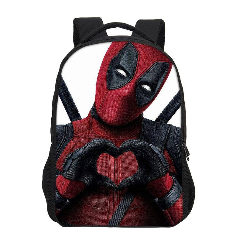 Boys Cool Deadpool Schoolbags Book Bag