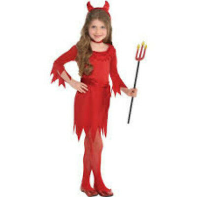New in Package!  Lil' Devil 4 Piece Girls Costume - Size Toddler (3-4)