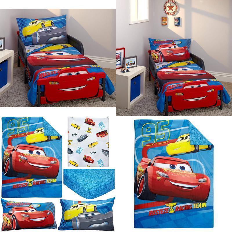 Disney Cars Rusteze Racing Team 4 Piece Toddler Bedding Set,