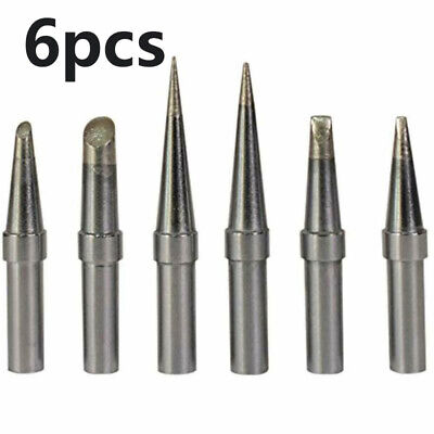 6pcs Soldering Iron Tips Replacement Kit For Weller Wes51 Wcc100 Rework Station