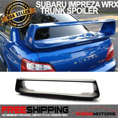 Sti Trunk - Fit 02-07 Subaru Impreza WRX STI OE Factory ABS Trunk Spoiler Unpainted