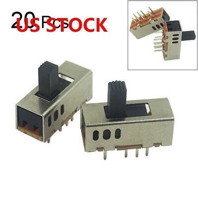 0.5a 8 Solder Lug Pin 3 Position Spdt 2p3t Mini Panel Slide Switch 20pcs Us