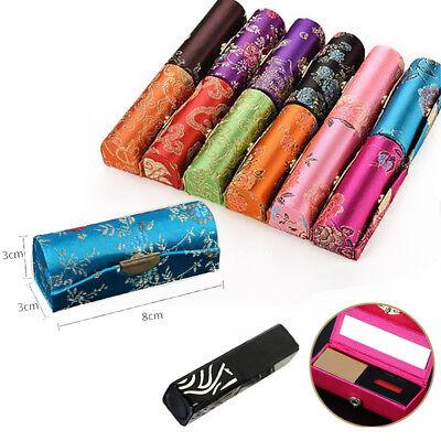 8*3 cm Lippenstift Etui mit spiegel Lippenstiftbox Halter Case Kasten Make-up ()